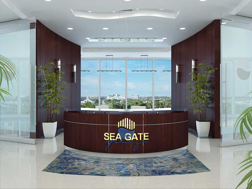 3D Reception Desk - Sea Gate Properties in Fort Lauderdale, Florida