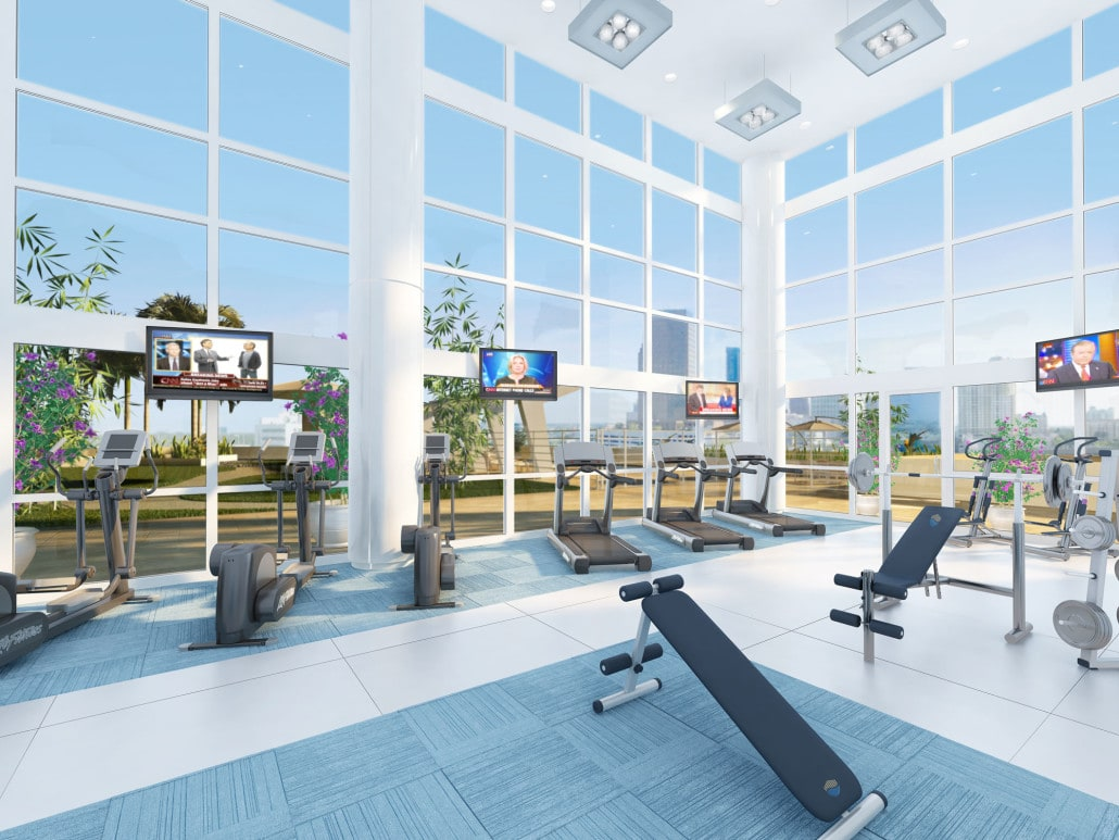 Fitness Area / Gym located in Seagate Properties (SGP) in Fort Lauderdale, FL