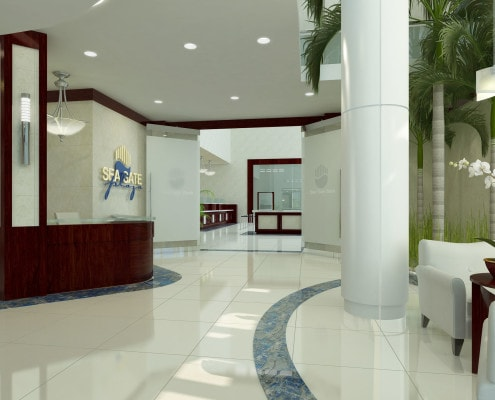 Lobby Area - Seagate Properties 3D Concept in Fort Lauderdale, Florida