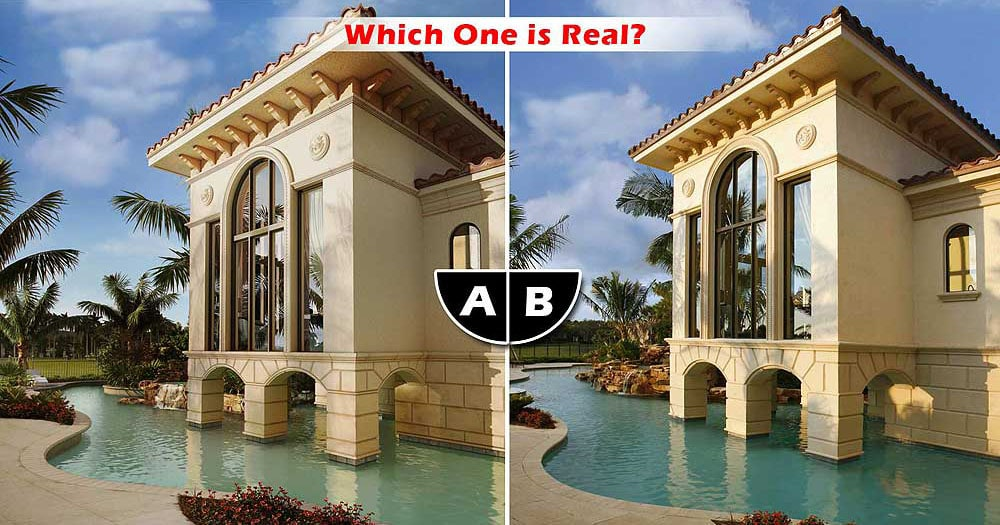 Which Residence is Real or a 3D Rendering? Exterior in Naples, Florida