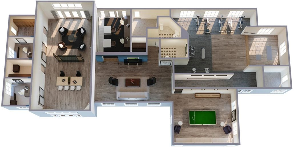 3D Floorplan of Breckenridge Community Center