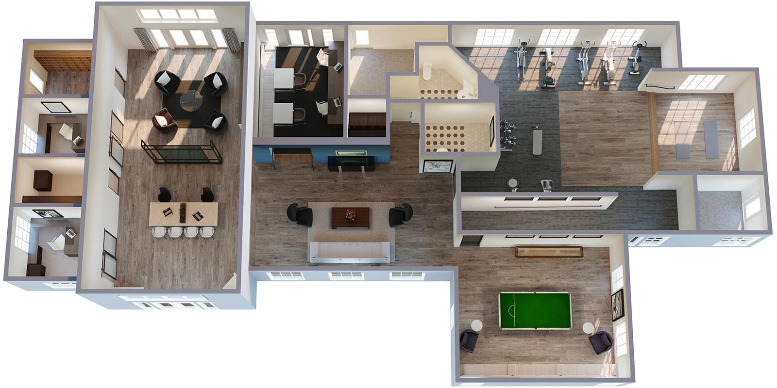 3D Floorplan of Breckenridge Community Center