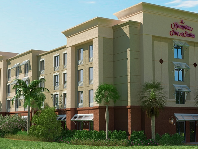 Hampton Inn Suites Stuart North - Commercial 3D Rendering