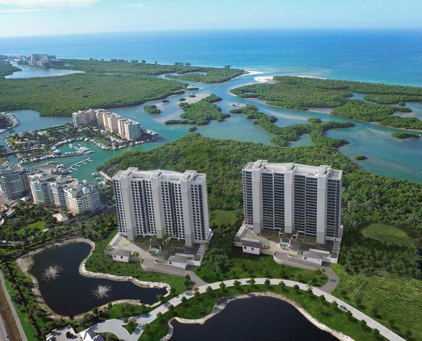3D Renderings of Kalea Bay Towers in North Naples / Bonita Springs Florida.