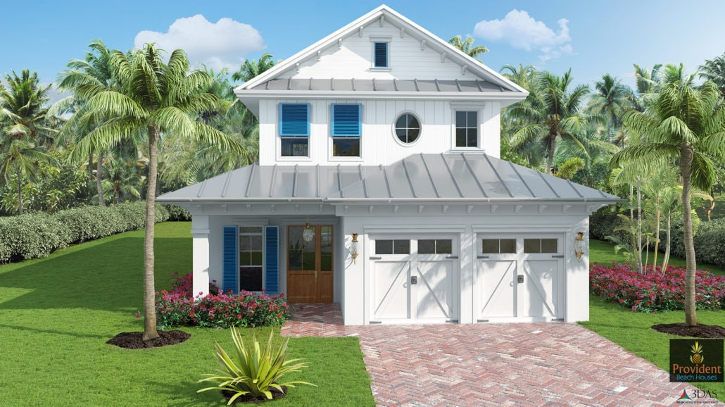 Naples 723 Myrtle Terrace - Beach Residential - Exterior 3D Rendering - Before