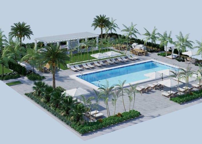 3D Exterior Floor Plan - Alister Boca Raton Florida