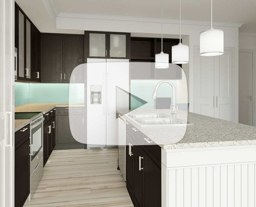 3D Room Selector Video Showing Changes to Kitchen Flooring, Cabinets and Walls