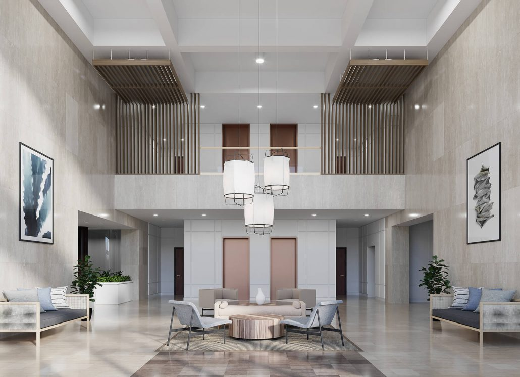 Bank of America BoA Lobby 3D Interior Rendering is located in Naples, Florida (Park Shore)