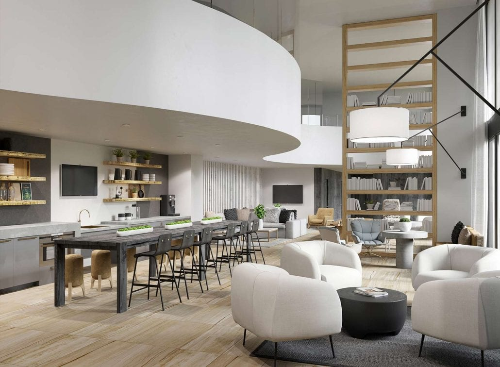 3D Rendering of Taylor Uptown Gather in the Clubhouse is located at 3100 Carlisle Street, Dallas, Texas 75204