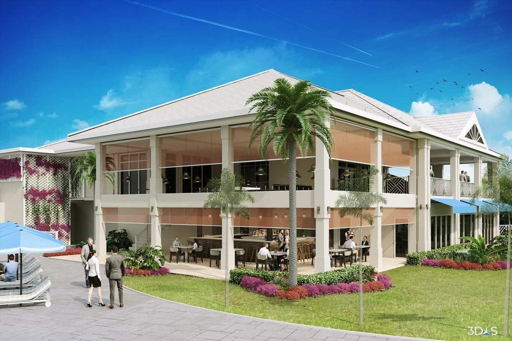 Sterling Oaks 3D Rendering of Renovated Residential Clubhouse Exterior (Bonita Springs, Florida)