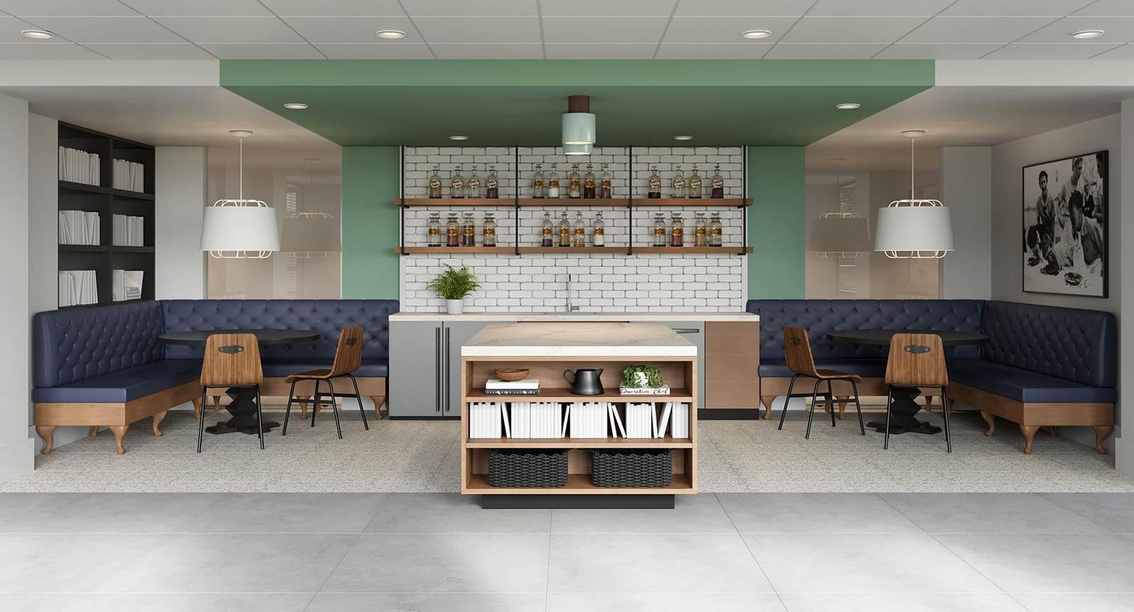 Kitchen 3D rendering interior for Cambridge Park