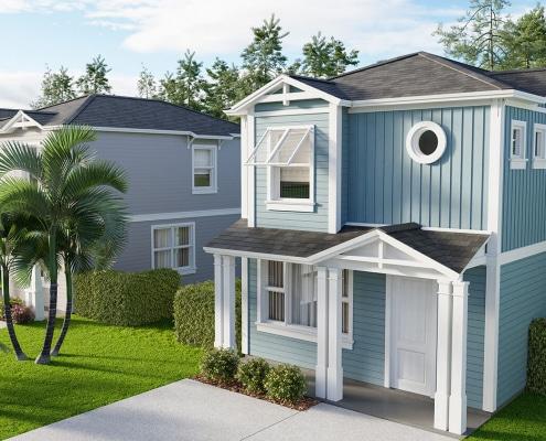 3D rendering of Regal II Residential Home in East Naples, Florida