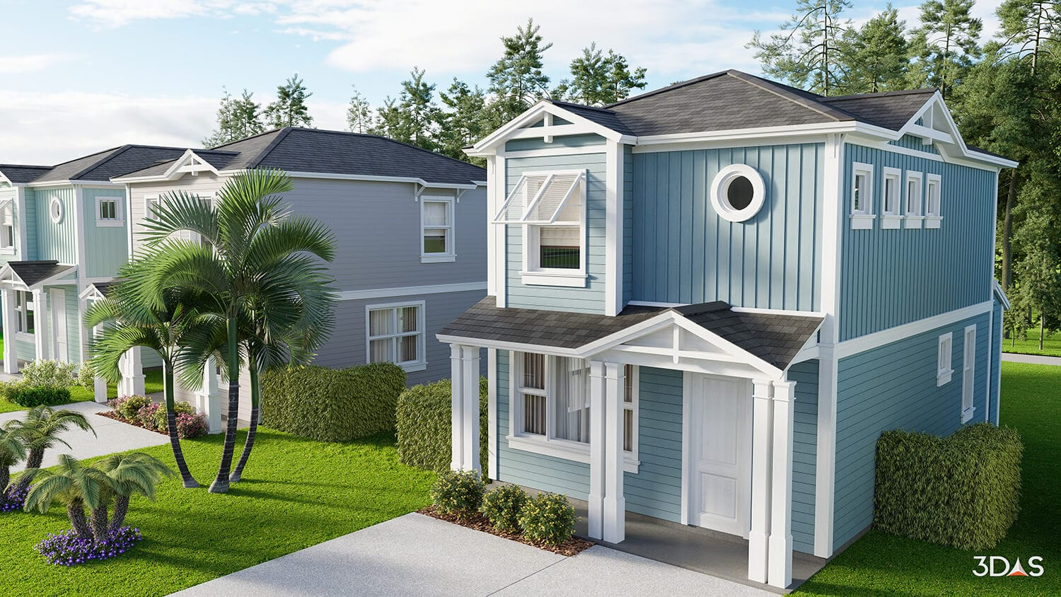 3D rendering of Regal II Residential Home in East Naples, Florida