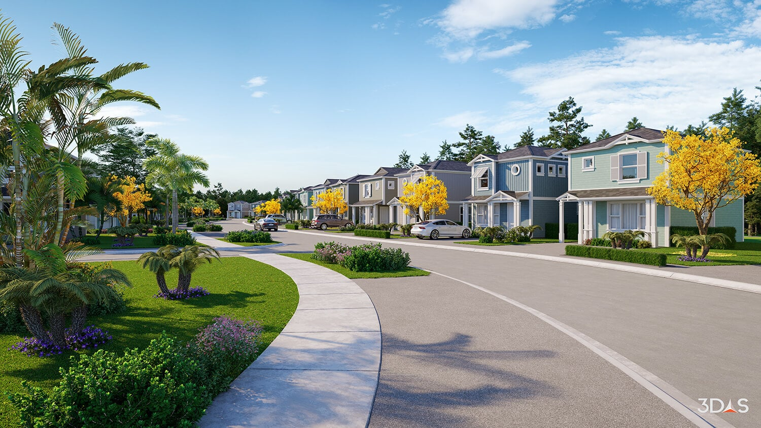 3D rendering of Regal II Residential Neighborhood in East Naples, Florida