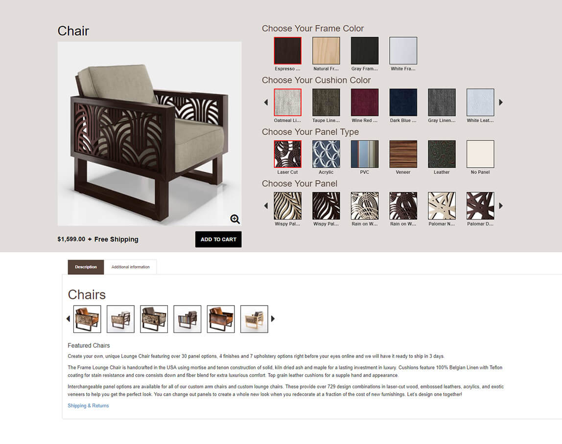 Gentil 3D Furniture Selector: Dynamically Select Furniture In E ...