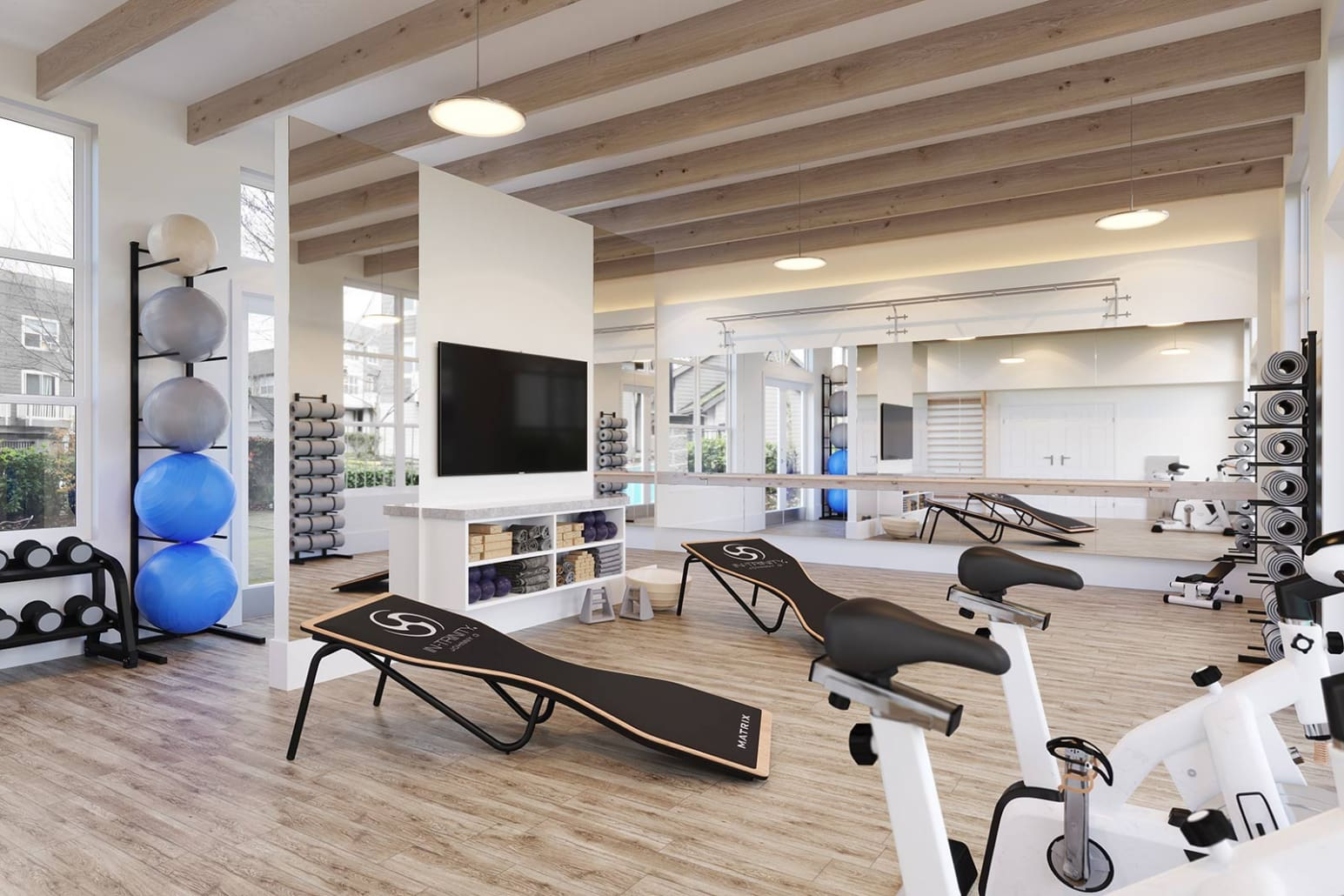 Holland LaSalle Exercise Room 3D Rendering Located in Beaverton, Oregon