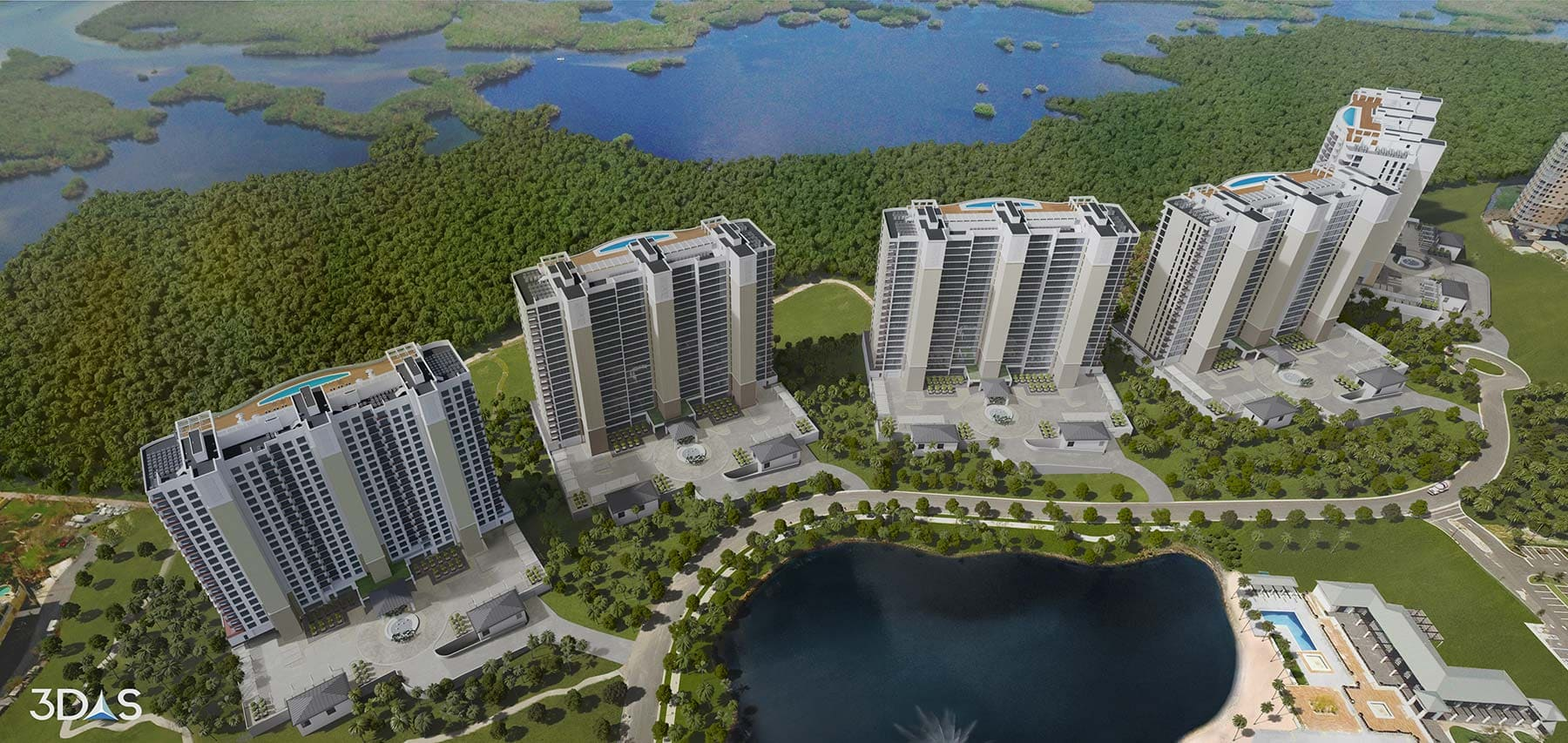 Luxury Towers 3D Renderings in Naples, Florida