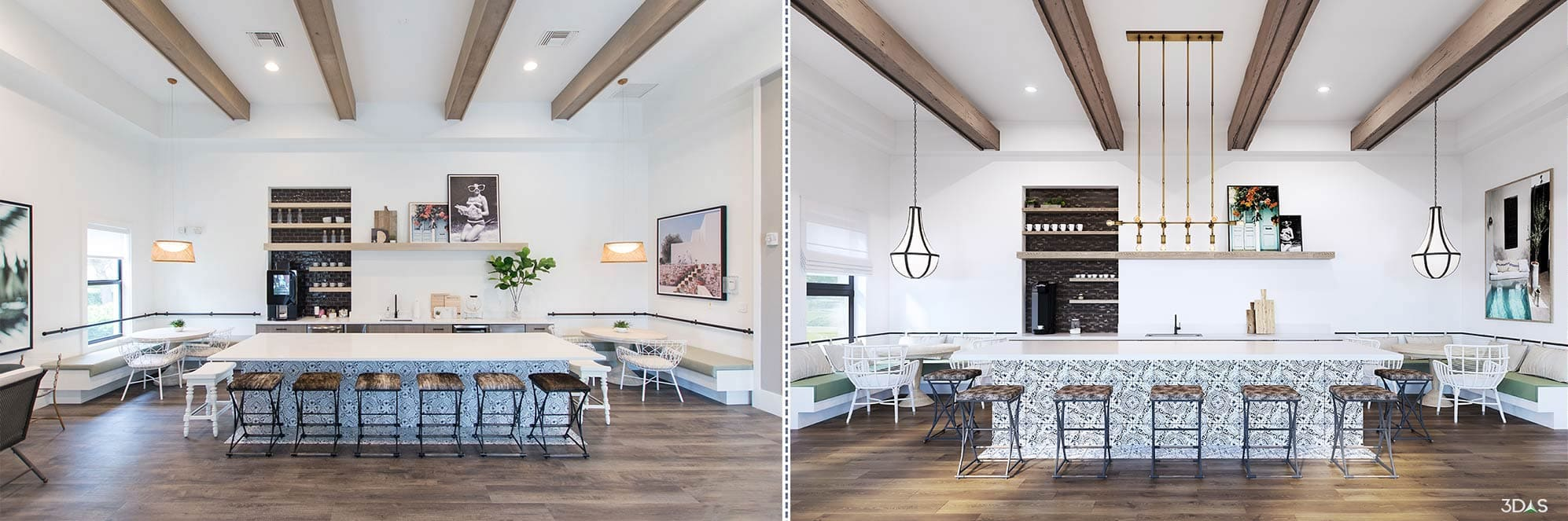 3D Rendering or Photo - Which is the Better One Boynton Beach Kitchen Interior?