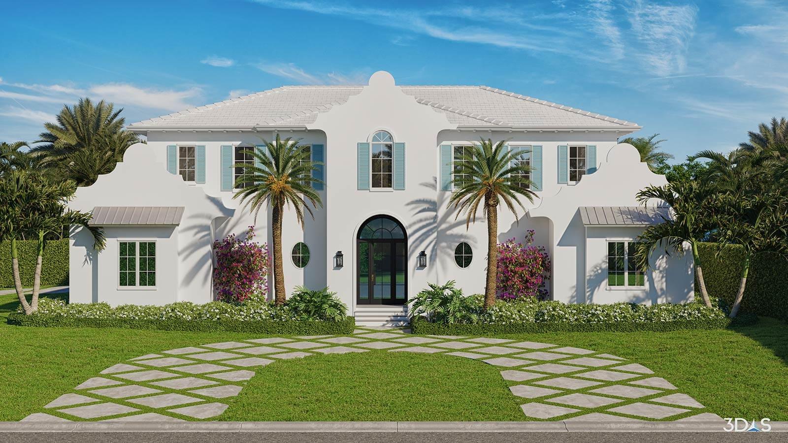3D Elevation Residential - 3770 Crayton Road Naples, Florida