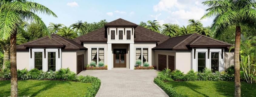 Residence Located in Bradenton, Florida. 3D Rendering by 3DAS.
