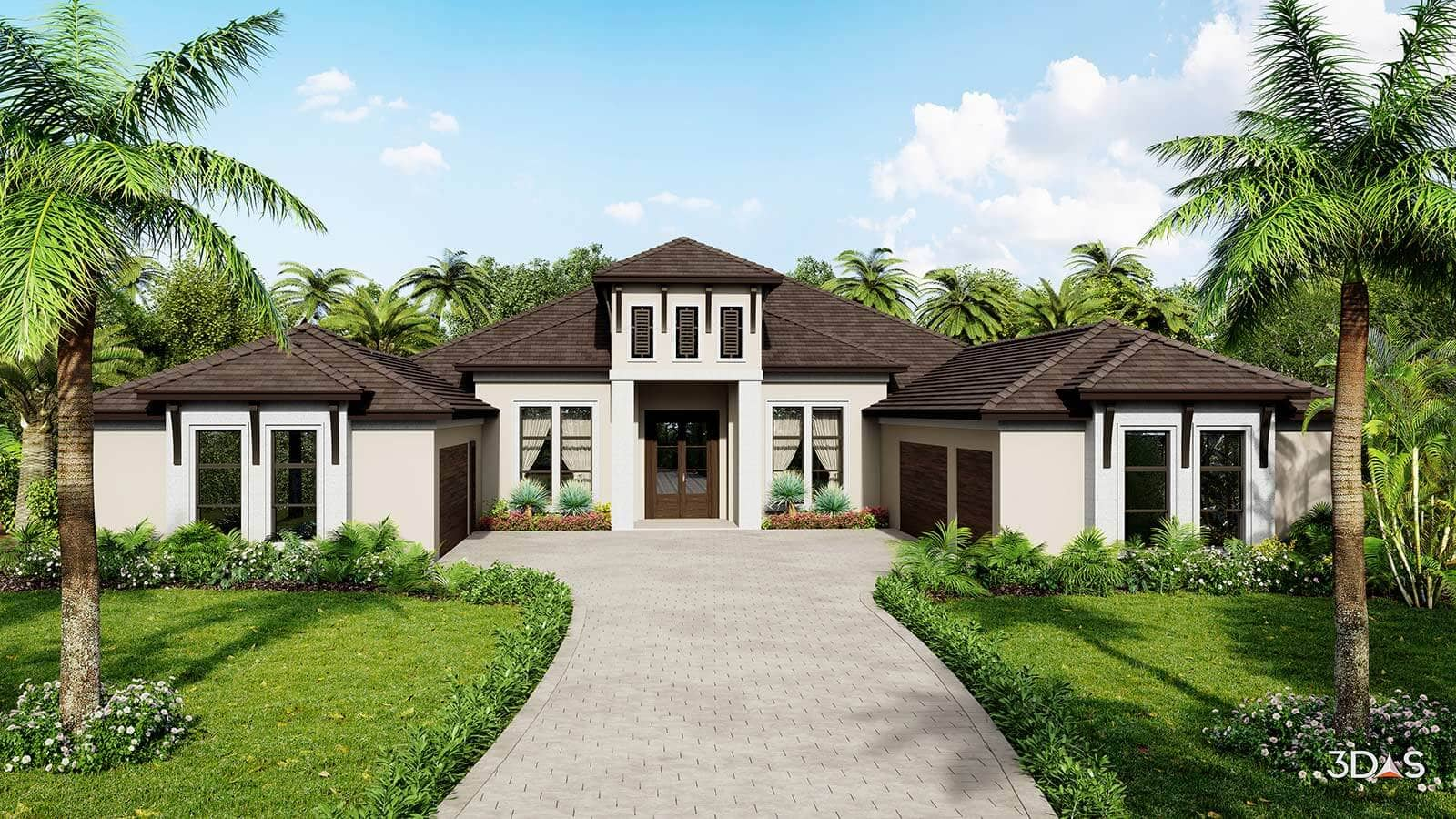 Residence Located in Bradenton, Florida. 3D Rendering by 3DAS.