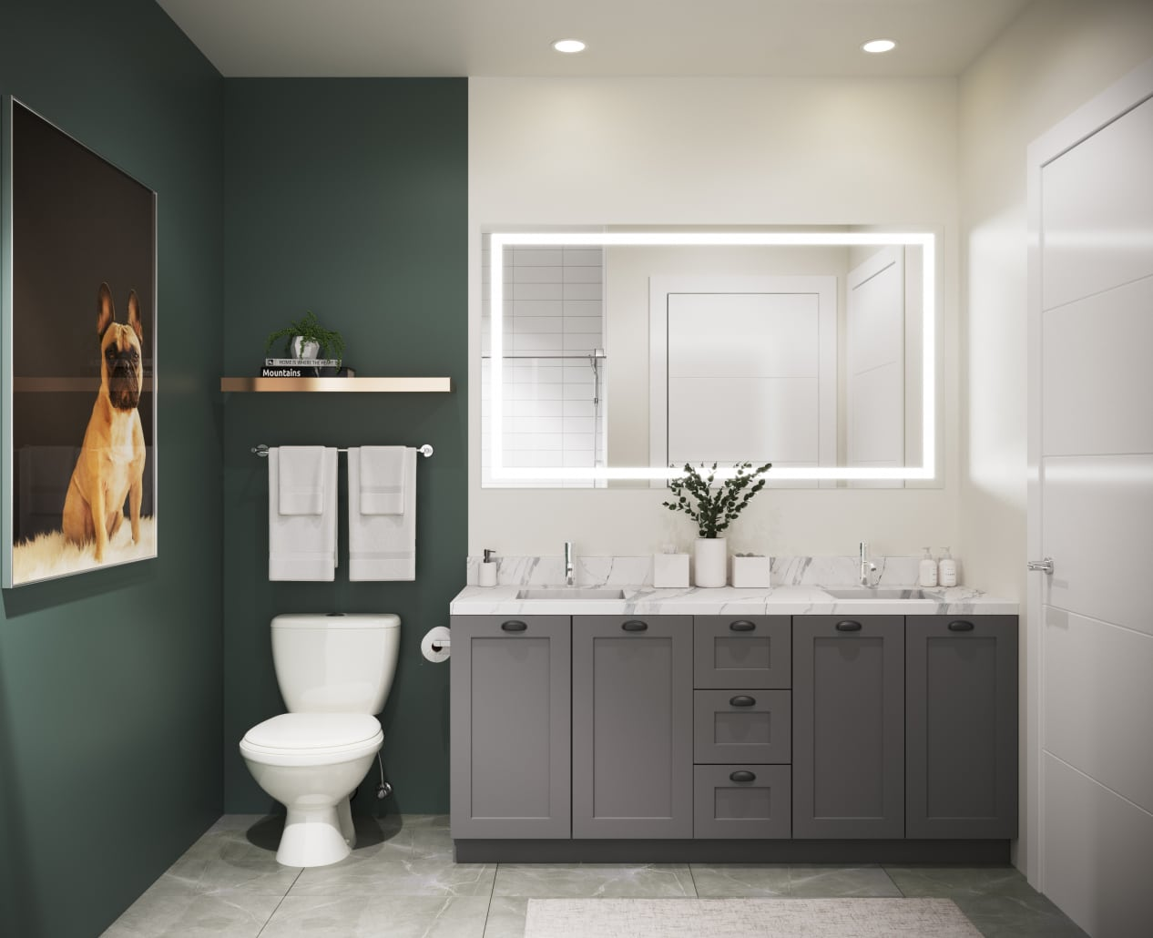 3D Rendering Interior Bathroom for Elan Halycon in Alpharetta, Georgia