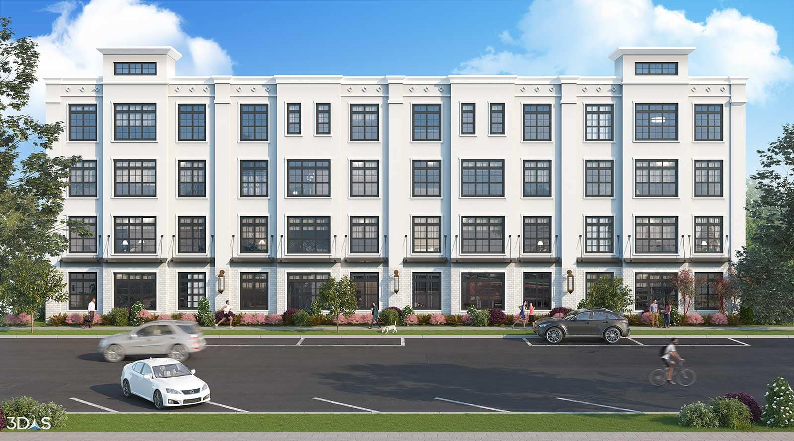 Daytime 3D Elevation Rendering Residential Located in Columbia, South Carolina