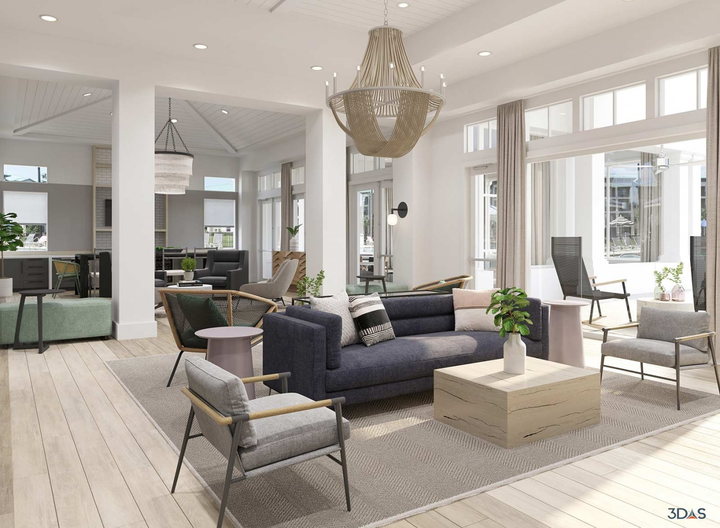 Sea Isle 3D Rendering Clubroom is Located in Orlando, Florida