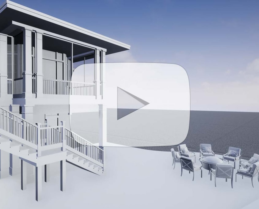 Using a Game Engine (Unreal Engine), Explore the exterior architectural elements in real-time.