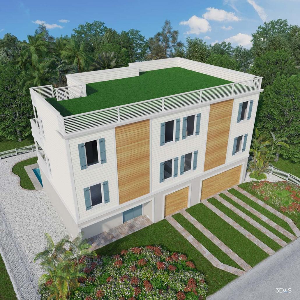 Ocean Pearl Exterior Residence 3D Rendering
