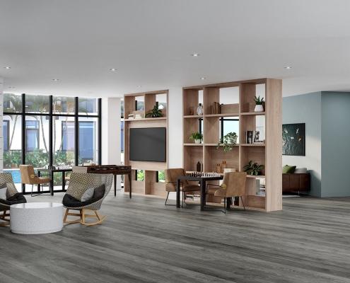 Waterline Aqua Lounge 3D Rendering in Miami Florida