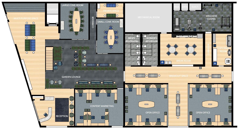 Simple 2D Floor Plan