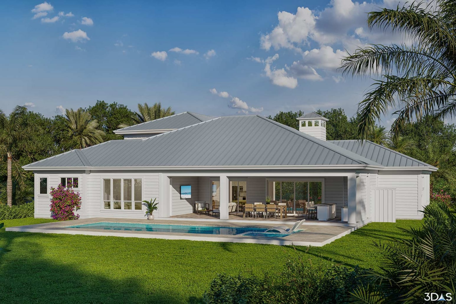 3D Elevation Residential Home in Naples, Florida