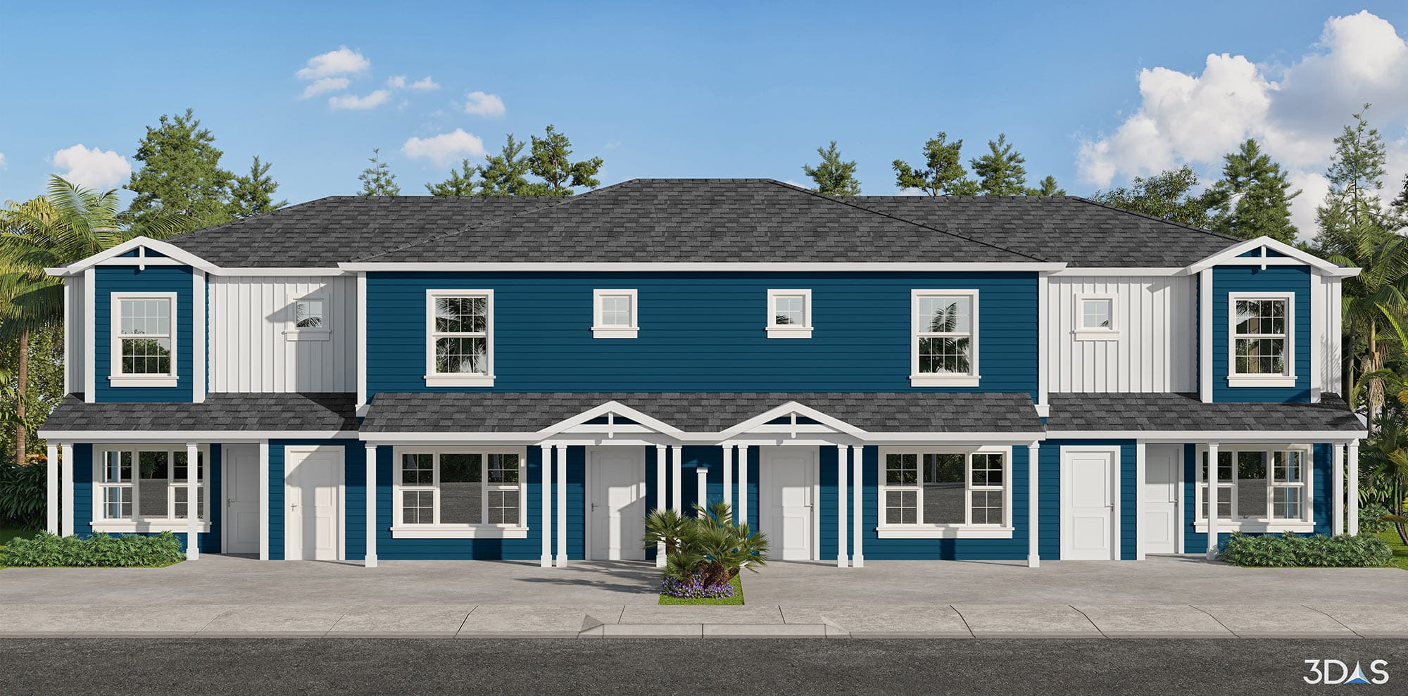 Habitat for Humanity Collier's Whitaker Woods. 3D elevation color rendering located in Naples, Florida.
